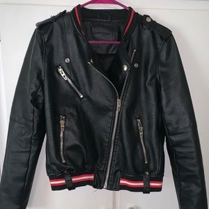 Blank NYC Faux Leather Bomber